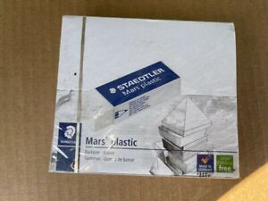 Staedtler Mars Plastic Eraser 20 Count Box Sealed Free Shipping Latex Free