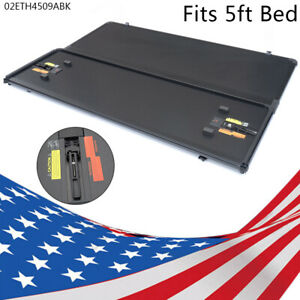 Lock Tri Fold Hard Tonneau Cover Fit For 15 21 Chevy Colorado Gmc Canyon 5ft Bed