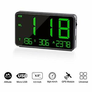 Timprove Universal Digital Car Hud Head Up Display Gps Speedometer With Over