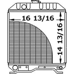 New Sba310100291 Sba31010 Tractor Radiator Fits Ford Fits New Holland 1510 1710