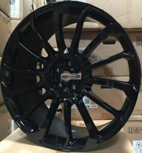 22 Autobiography Style Wheels Gloss Black Rims Tires Fit Range Rover Hse Sport