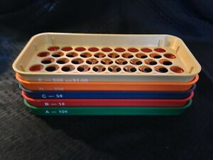Vtg Coin Sorting Trays Of 5 Kwik sort Jr By Mmf Industries With Original Box