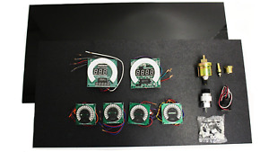 Create A Dash Kit Bargraph 6 Gauge Set With White Led Gauges Made In The Usa