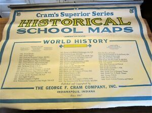 Cram S Superior Series Historical School Maps World History 20 Sheets 52 X40