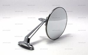 4 25 Round Chrome Stainless Mirror Classic Vintage Hot Rod Street Rod