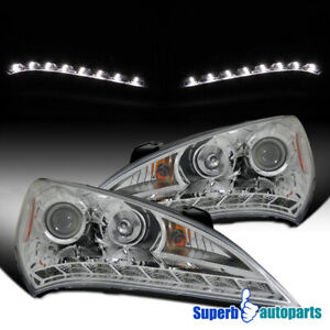 For 2010 2012 Hyundai 10 12 Genesis Coupe 2 Dr Projector Headlights Head Lamps