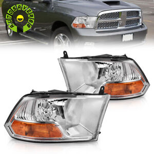 For 2009 2012 Dodge Ram 1500 2500 3500 Headlights Amber Coner Lamp Assembly Pair