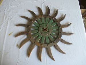 Vintage John Deere Cast Iron Cultivator Wheel 19 Lot 21 9 f