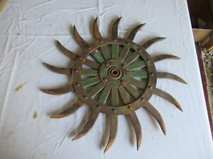 Vintage John Deere Cast Iron Cultivator Wheel 19 Lot 21 9 k