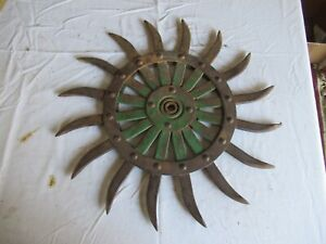 Vintage John Deere Cast Iron Cultivator Wheel 19 Lot 21 9 l