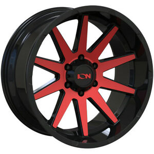 4 ion 143 20x9 6x135 0mm Black red Wheels Rims 20 Inch