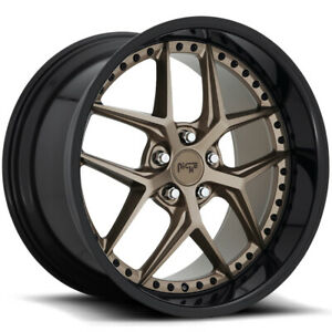 Staggered niche M227 Vice 19x8 5 19x9 5 5x120 35mm Bronze Wheels Rims