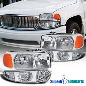 For 2001 2006 Gmc Sierra Yukon Denali Headlights Signal Corner Lamps