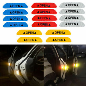 Car Door Safety Open Reflective Sticker Decal Warning Mark Car Decal Tape Sign