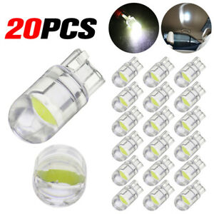 20x T10 Led Cob 6000k White W5w 168 Car Interior Lights Dome Reading Map Light