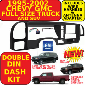 1995 2002 Gm Truck Suv Double Din Car Stereo Installation Dash Kit Dp 3003
