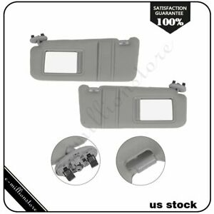 Gray Left Right Side Car Sun Visor Pair For 06 11 Toyota Camry Without Sunroof Fits Toyota Camry