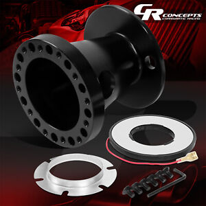 Black Steering Wheel 6 Bolt Hub Adapter Boss Kit For 1992 1997 Ford F250 Ranger