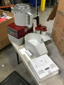 Robot Coupe R2b Cutter Mixer W 3 Qt Gray Bowl Smooth Edge S blade