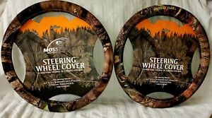 Mossy Oak 2pc Car Steering Wheel Cover Break up Country Camo Universal Fit