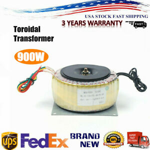 Toroidal Power Transformer Round Cover Ac110v ac220v 45hz 60 Hz 900w Us Top