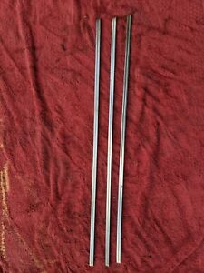 1941 1942 Chevy Pickup Truck Hood Side Stainless Trim 3 Pieces Original