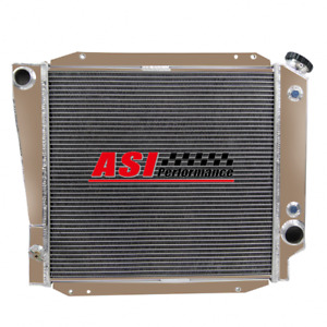 4 Row Aluminum Radiator For 1973 1977 Ford Early Bronco Wagon Roadster 5 0l V8