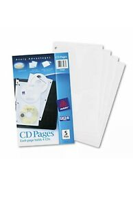 Avery Two sided Cd Organizer Sheets For Three ring Binder 5 pack