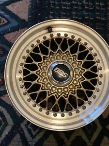 3 Original Gold Bbs Rs Wheels rims in Great Condition