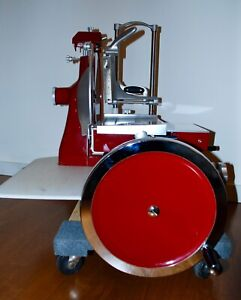 Manual Omcan Volano 14 5 Meat Slicer Made In Italy Classic Flywheel Design
