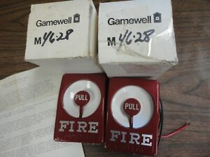 Vintage Gamewell m46 28 Pull Station Red Metal In Original Box N O S