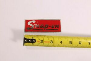 Vintage Logo Snap on Tools Cursive 4 Tool Box Decal Sticker Retro 70 s 80 s