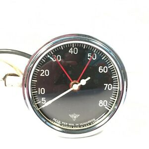 1950 s Vintage Stewart Warner Wings Tachometer Tach 8000 Rpm 6 Volt Hot Rat Rod