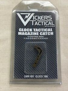 Vickers Tactical Tan Glock 9mm .40 Gen 1 3 Extended Magazine Release GMR 001 $17.99