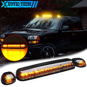 Led Smoked Amber Cab Roof Light For Chevrolet Silverado 1500 2500 Hd 2002 2007