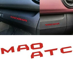 For Toyota Tacoma 2016 2019 Glove Box Overlay Vinyl Dash Inserts Decal