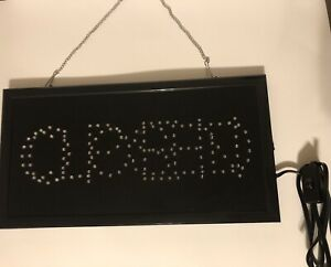 Open closed Sign Led With Hanging Chain