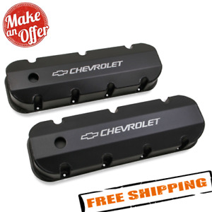 Holley 241 281 Black Aluminum Valve Covers For 1965 2000 Chevy 396 454 Big Block
