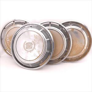 Vintage Cadillac Hubcaps Set Of Four