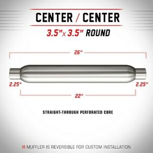 Magnaflow Muffler Center 3 5 Round Glasspack 26 Overall 2 25 In Out 18135