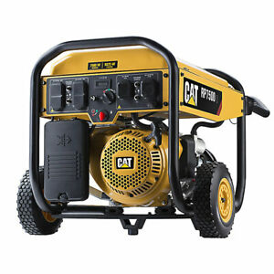 Cat 7500w Ohv Portable Electric Recoil Gar Generator 11hr Run Time open Box