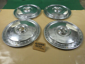 1955 56 Ford Full Size 15 Hubcap wheel Cover Hub Caps Set Of 4