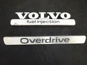 Vintage 1971 1972 Volvo 142e 144 145 164e Volvo Emblems Overdrive Fuel Injected