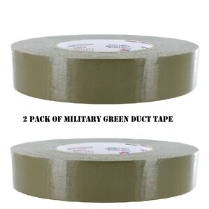 Olive Green Military Grade Duct Tape 2 Pack