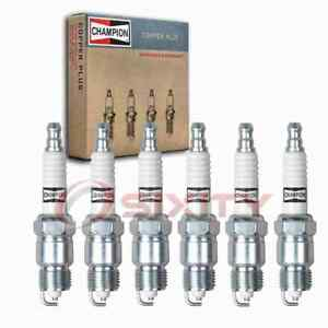 6 Pc Champion Copper Plus Spark Plugs For 1970 1974 Checker Marathon 4 1l L6 Pb