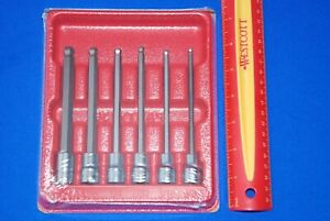 New 2019 Snap on 6 Piece 3 8 Drive Sae Long Ball Hex Bit Socket Set 206efabl