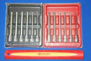 New Sealed Snap On 12 Pc 3 8 Drive Metric And Sae Long Ball Hex Bit Socket Set