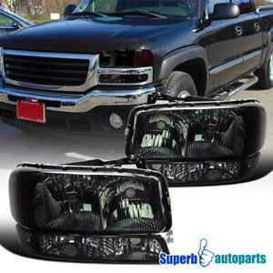 For 1999 2006 Gmc Sierra 2000 2006 Yukon Xl Headlights Signal Bumper Lamps Smoke