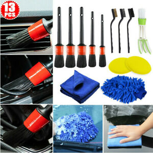 13pcs Detailing Brush Cleaning Gloves Car Cleaner Brush Cleaning Wheels Interior