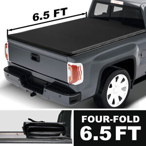For 2007 2021 Toyota Tundra 6 5 Ft Cover Truck Bed 4th fold Soft Vinyl Tonneau